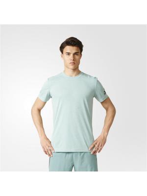 Футболка спортивная муж. CLIMACHILL TEE Adidas. Цвет: серо-зеленый