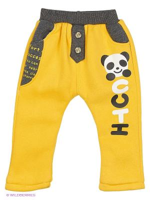 Брюки Happy Bear. Цвет: желтый