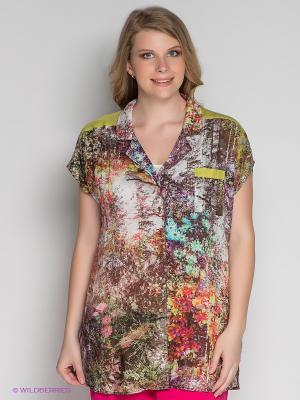 Блузка ARDATEX. Цвет: коричневый