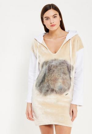 Платье Met. Цвет: бежевый