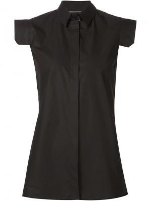 Рубашка с рукавами-кап Maison Margiela. Цвет: чёрный