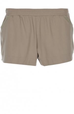 Хлопковые мини-шорты с эластичным поясом Hanro. Цвет: хаки