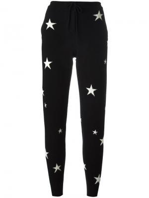 Спортивные брюки с принтом звезд Chinti & Parker. Цвет: чёрный