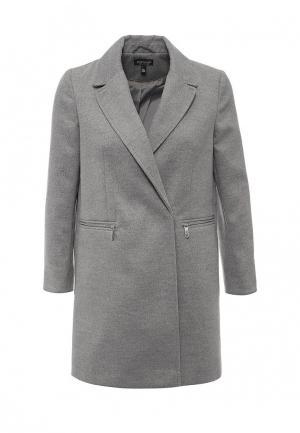 Пальто Topshop. Цвет: серый