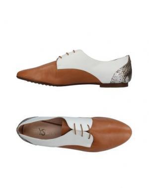 Обувь на шнурках YOSI SAMRA. Цвет: коричневый