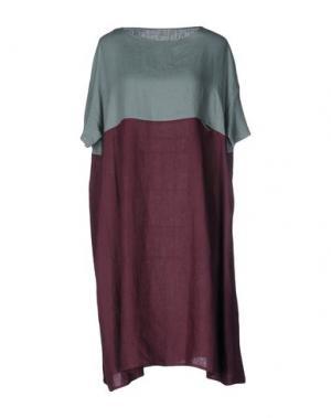 Платье до колена A.B APUNTOB. Цвет: пурпурный
