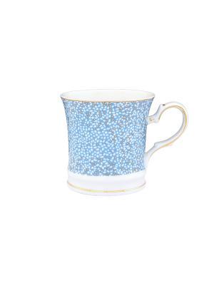 Кружка Золотая россыпь Elan Gallery. Цвет: голубой, золотистый, белый