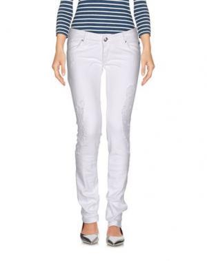 Джинсовые брюки ROŸ ROGER'S CHOICE. Цвет: белый