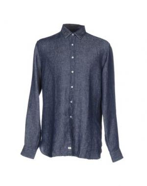 Джинсовая рубашка GHERARDINI. Цвет: синий