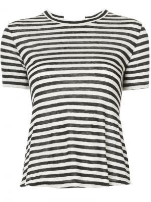 Striped T-shirt A.L.C.. Цвет: чёрный