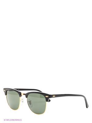 Очки солнцезащитные CLUBMASTER Ray Ban. Цвет: черный, серо-зеленый, золотистый