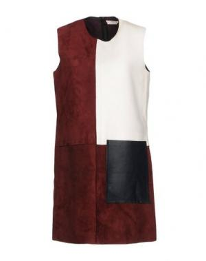 Короткое платье EDUN. Цвет: красно-коричневый