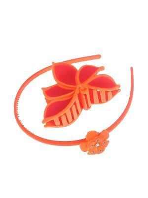Аксессуары для волос (Ободок, заколка-краб) Migura. Цвет: оранжевый