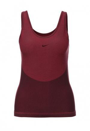 Майка спортивная Nike. Цвет: бордовый