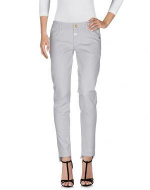 Джинсовые брюки LE JEAN DE MARITHÉ + FRANÇOIS GIRBAUD. Цвет: светло-серый