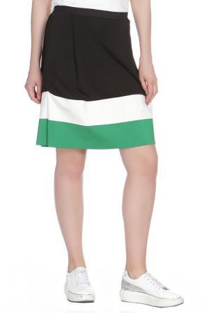 Юбка Liviana Conti. Цвет: черно-бело-зеленый