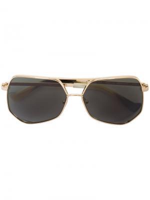 Солнцезащитные очки в восьмиугольной оправе Grey Ant. Цвет: металлический