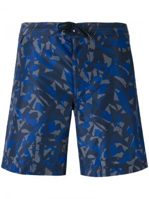 Камуфляжные шорты для плавания Z Zegna. Цвет: многоцветный