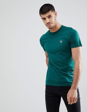 PS Paul Smith Зеленая облегающая футболка с логотипом. Цвет: зеленый
