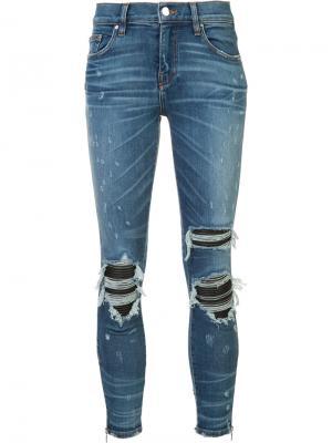 Рваные джинсы кроя скинни Amiri. Цвет: синий
