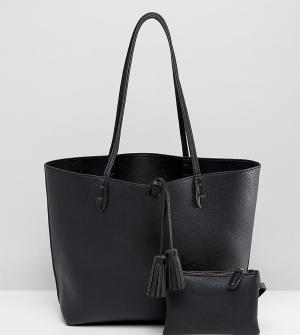 Street Level Черная сумка-тоут East West. Цвет: черный