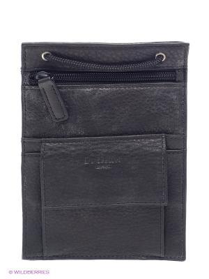 Нагрудный кошелек Dr. Koffer. Цвет: черный