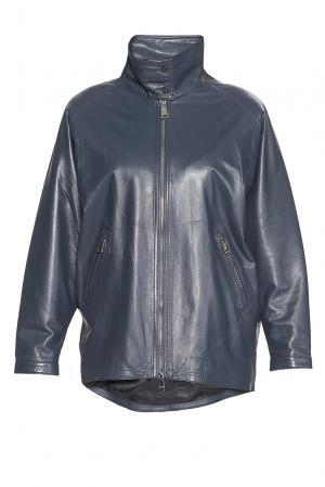 Кожаная куртка 181542 Adamo. Цвет: синий