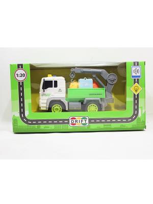 Машина грузовик- мусоровоз с манипулятором Drift. Цвет: белый