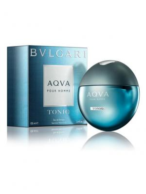 Aqua man Toniq edt 100 ml BVLGARI. Цвет: голубой