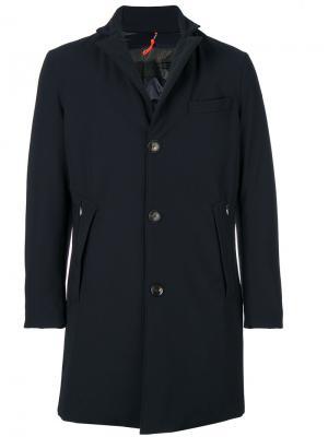 Зимнее пальто-пуховик Rrd. Цвет: синий