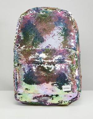 Spiral Рюкзак с пайетками. Цвет: мульти