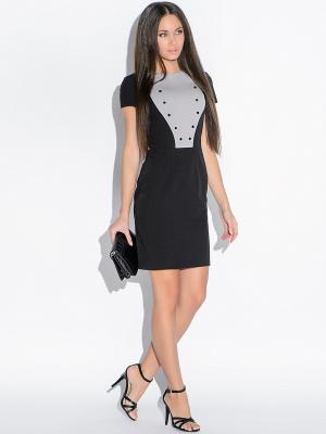 Платье Colambetta. Цвет: черный, серый