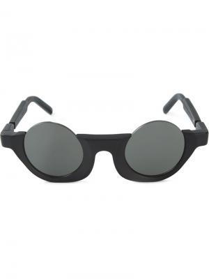 Солнцезащитные очки в круглой оправе  Berlin x Julius Kuboraum. Цвет: чёрный