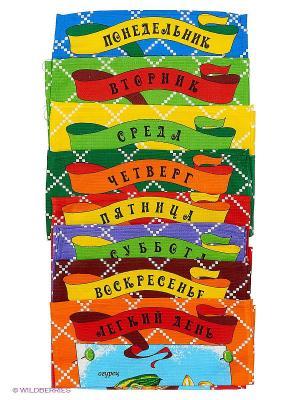 Набор кухонных полотенец Letto Неделька, 8шт, 35*62см, 100% хлопок. Цвет: синий, желтый, зеленый, красный