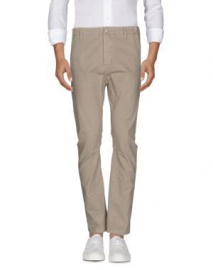 Джинсовые брюки DANIELE ALESSANDRINI HOMME. Цвет: песочный