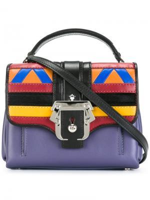 Маленькая сумка-тоут со съемной лямкой Paula Cademartori. Цвет: многоцветный