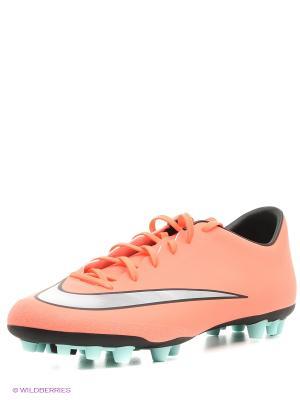 Бутсы MERCURIAL VICTORY V AG-R Nike. Цвет: оранжевый