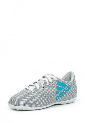 Бутсы зальные adidas. Цвет: серый