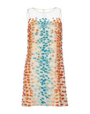 Короткое платье ISSA. Цвет: слоновая кость