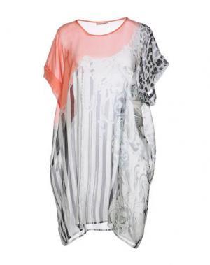 Короткое платье EMMA COOK. Цвет: коралловый