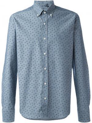 Рубашка с цветочным принтом Fay. Цвет: синий