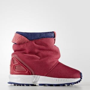 Сапоги ZX Flux  Originals adidas. Цвет: белый