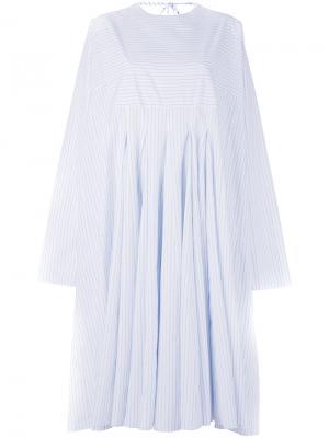 Свободное платье в полоску Ter Et Bantine. Цвет: белый