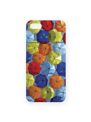 Чехол для IPhone 5 Зонтики Mitya Veselkov. Цвет: красный, синий