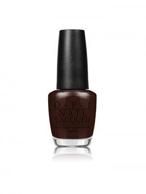 Opi Лак для ногтей Shh..Its Top Secret, 15 мл. Цвет: темно-коричневый