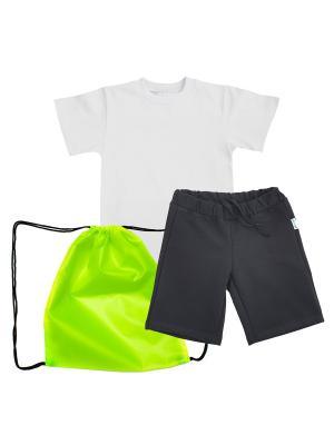 Комплект для физкультуры мальчики МИКИТА. Цвет: черный, белый