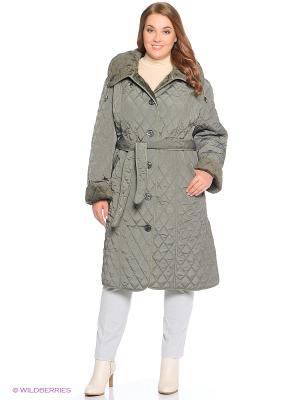 Стеганое пальто Emi Filini. Цвет: зеленый