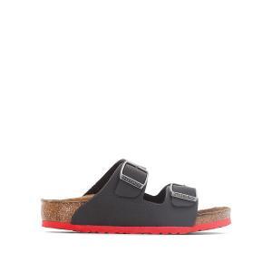 Туфли без задника синтетические BIRKENSTOCK. Цвет: черный/ красный