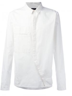 Асимметричная рубашка Thom Krom. Цвет: белый
