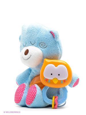 Мягкая интерактивная игрушка Спящий медвежонок BKIDS. Цвет: голубой